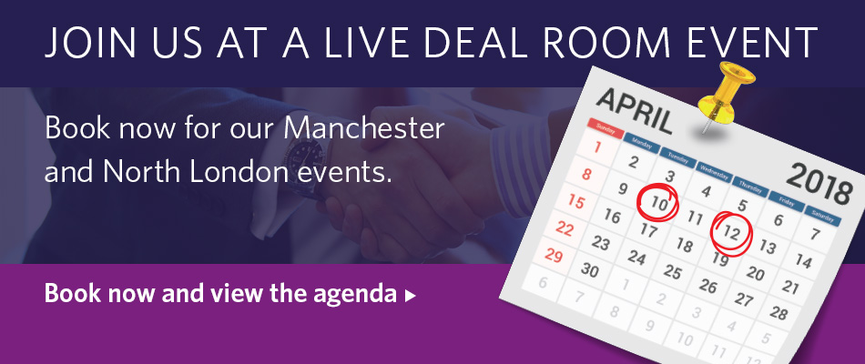 Join us at a Live Deal Room Event